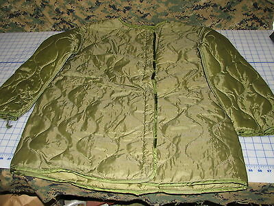 $31.95 • Buy Quilted Parka LINER M65 Military Size Large Fishtail USGI NEW Dated 77 Vintag