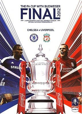 £4.99 • Buy FA CUP FINAL 2012 Chelsea V Liverpool - Official Programme