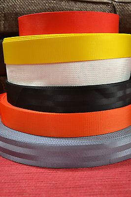 $ CDN5.62 • Buy 2  / 50mm Nylon Webbing/Strapping - 1, 5 Or 10 Metre Lengths - Various Colours