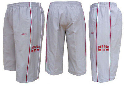 £9.99 • Buy Mens Reebok Over The Knee Shorts / 3/4 Pants With Twin Piped Detail XS,S,M & L