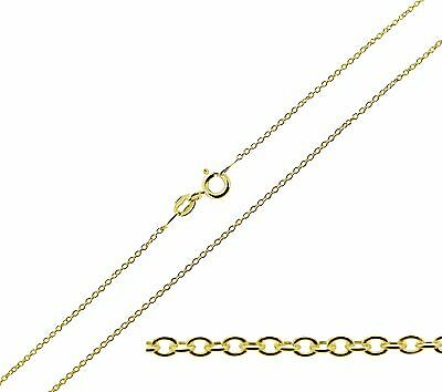 9ct Gold Plated On Sterling Silver 16 - 24  Inch 1mm Fine Trace Chain Necklace • 11£