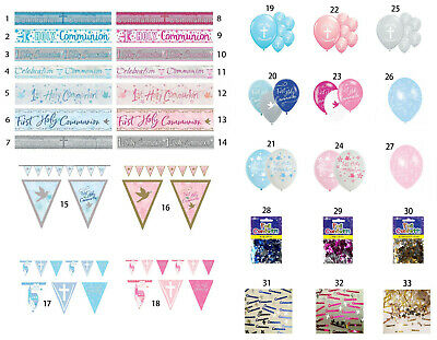 First Holy Communion Banners & Balloons & Buntings And Confetti Decorations • 2.29£