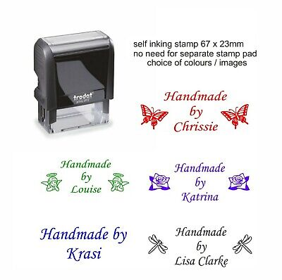 £9.95 • Buy Personalised Handmade By Rubber Stamp Self Inking Custom With Your Name Business