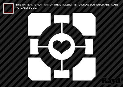 £3.65 • Buy (2x) Weighted Companion Cube Sticker Decal Portal 2