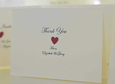 £5 • Buy Personalised Handmade Wedding Thank You Cards. Victoria