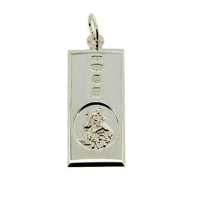 Sterling Silver Large St Christopher Ingot With Front Hallmark & Engrave Option • 40£