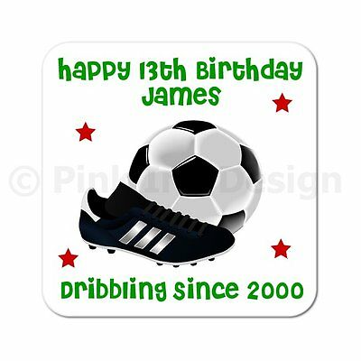 £3.50 • Buy Personalised 40th   50th   60th   65th Birthday Football Wooden Gift Coaster