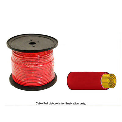 AU59.95 • Buy Cable Single Core 6mm RED 50 Amp - 30 Metre Roll - Automotive Applications