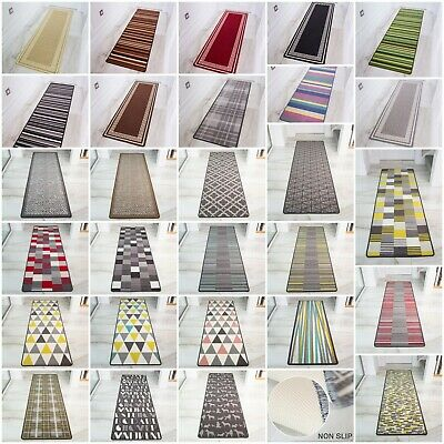 Machine Washable Non Slip Hall Runner Rugs Cheap New Long Easy Clean Hallway Mat • 9.95£