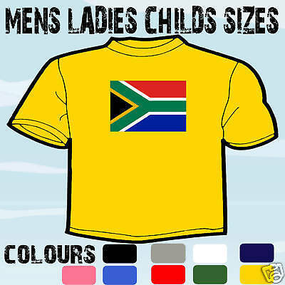 £8.91 • Buy South Africa Flag Emblem T-shirt All Sizes & Colours