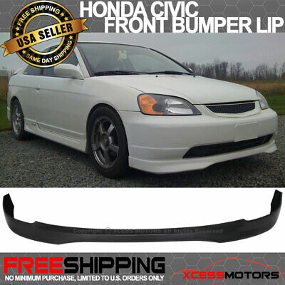 $70.99 • Buy Fits 01-03 Honda Civic T-R Front Bumper Lip - PP