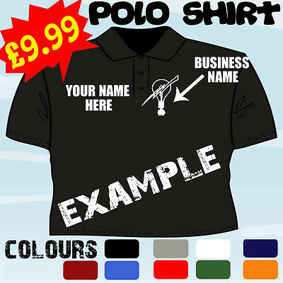 £17.65 • Buy Electrician Spark Business Personalised T Polo Shirt