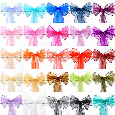 £39.99 • Buy Large Size Organza Chair Cover Sashes Bow Wedding Party - High Quality UK Stock