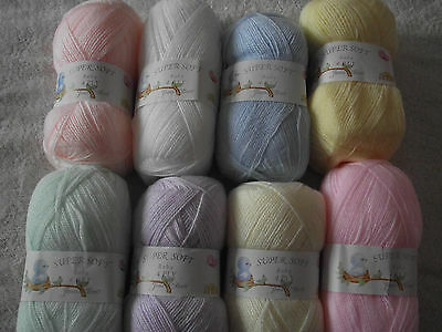 100g Super Soft Baby 4Ply Wool - James C Brett - Choice Of Colours • 1.99£