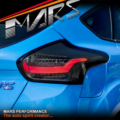 AU399.99 • Buy Smoked 3D Stripe Bar Tail Lights & LED Indicators For Ford Focus LZ Hatch 15-18