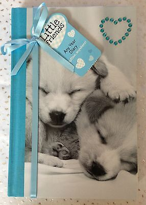 Little Friends Cute Puppy Design Any Year Diary With Diamante Heart Detail Bnwt • 11.99£