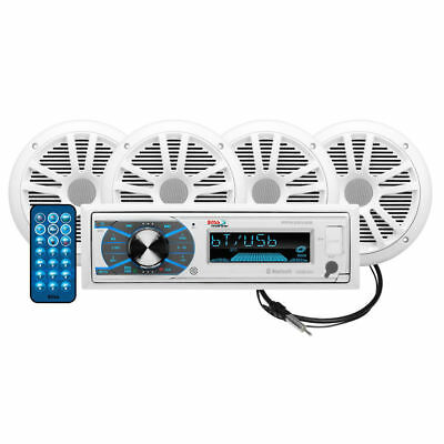 $179 • Buy NEW Boat Marine Stereo Sound System.Bluetooth Receiver W/ 4 - 6.5  Speakers.Amp