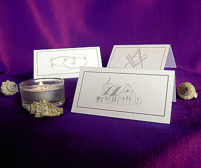 £4.69 • Buy Table Place Cards  Wedding Masonic Meal Party Name Setting Card White Or Ivory