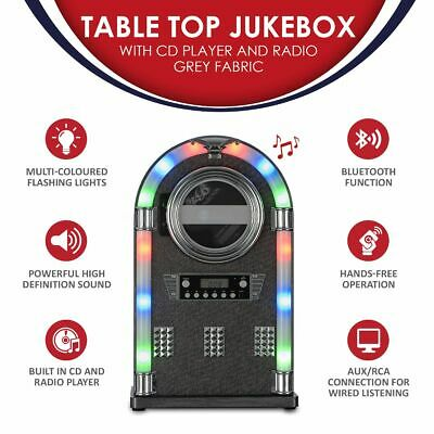 Tabletop Bluetooth CD Player Jukebox With Fm Radio, AUX Input And Remote Control • 44.94£