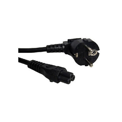 EU (3 PRONG CLOVER LEAF) LAPTOP POWER LEAD CORD / CABLE For Laptop Adapter 2 Pin • 2.92£