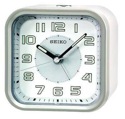 AU47.50 • Buy [Seiko] Wecker QHE128A Alarm Clock Quiet Sweep+Free Ship~100% AUTHENTIC,silver