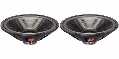 $134 • Buy NEW (2) 15  Woofer Speakers.4ohm.Bass.Home Audio.Replacement PAIR.fifteen Inch.C