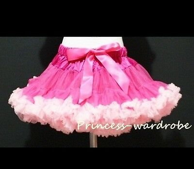 Pageant Hot Light Pink Tutu Skirt Dance Party Dress For Girl Adult Women Lady • 20.99£