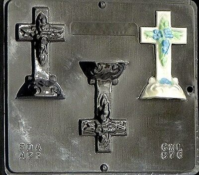 Cross On Base 4 X 2 1/4  Chocolate Candy Mold Easter  876 NEW • 4.39£