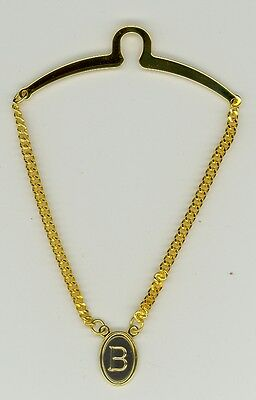 $8.99 • Buy Gold-Plated Initial Tie Chain ~ B ~ Initial 'B' ~ Cable Tie Chain ~ Fathers Day