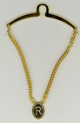 $8.99 • Buy Gold-Plated Initial Tie Chain ~ R ~ Initial 'R' ~ Cable Tie Chain ~ Fathers Day