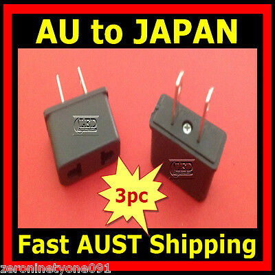 AU7.69 • Buy AU AUST NZ EU To Japan JP Style AC Power Travel Plug  Adapter Converter 3pc Mini