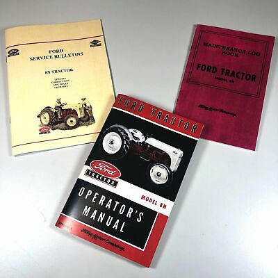 $ CDN23.50 • Buy Ford 8n Tractor Operators Owners Manual Includes Service Info Bulletins Log Book