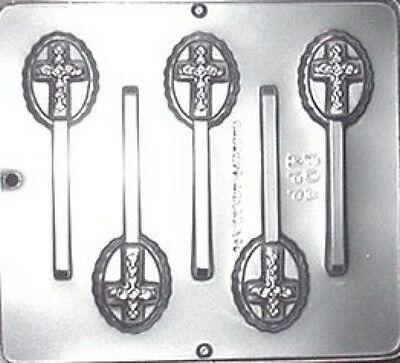 Cross On Oval Lollipop Chocolate Candy Mold 405 NEW • 4.39£