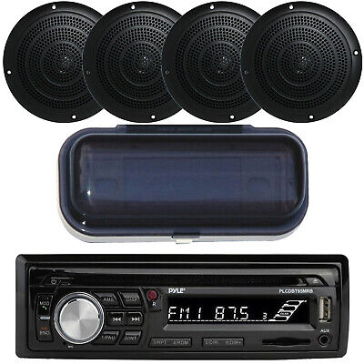 Marine Boat Yacht USB Stereo & Wireless Bluetooth & 4 Speakers /Cover • 103.99$