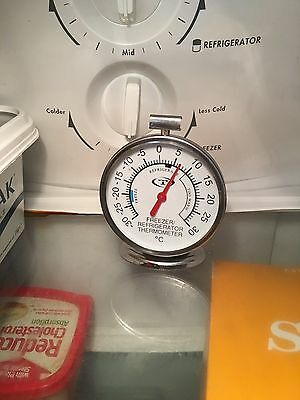 AU16.90 • Buy Cater-chef Fridge / Freezer Thermometer Dial-face Brand-new Stainless Steel