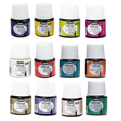 £3.35 • Buy Pebeo Vitrail Stained Glass Effect Paint 45ml TRANSPARENT Colours & Mediums
