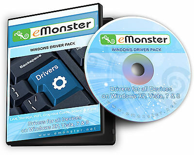 Windows Driver Disc - For Systems Running Windows XP, Vista, 7 & 8 - 32 & 64 Bit • 3.99£