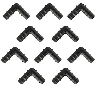 Pack Of 10 Elbow Connectors For Soaker/Leaky/Porous Garden Irrigation Hose • 5.29£