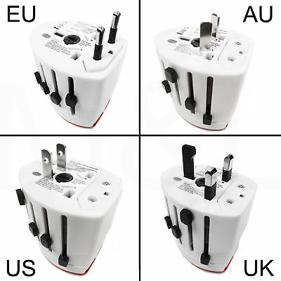 Universal World European EU USB Multi Travel Mains Plug Socket Charger Adapter • 3.89£
