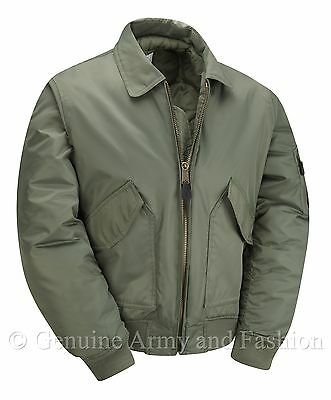£33.95 • Buy MA2 Flight Bomber Jacket Army Military MOD Air Force US Pilot CWU Padded Olive