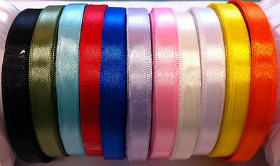 £1.40 • Buy ROLL Of SATIN RIBBON 10mm Width - 25 Yard/23 Mtr - Many Colours