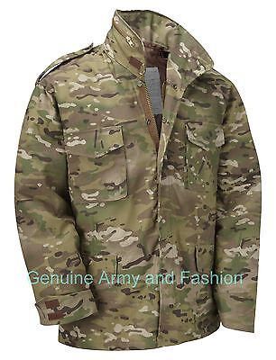 AU80.57 • Buy M65 Jacket Army Military Combat US Field Quilted Liner Vintage Multi Camo MTP