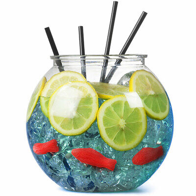 £3.99 • Buy Plastic Cocktail Fish Bowl 3ltr Party Drinking Fishbowl 185mm