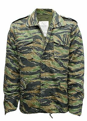 AU72.70 • Buy M65 Us Field Jacket Quilted Liner Vintage Military Army Combat Coat Camo Tiger