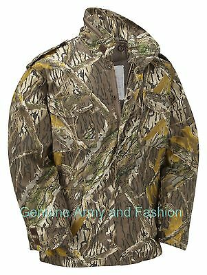 $70.45 • Buy M65 US Field Jacket Quilted Lined Vintage Army Combat Hunter Mossy Oak Tree Bark