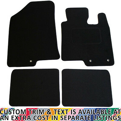 For Hyundai I40 Fully Tailored 4 Piece Black Car Mat Set With 3 Ring Clips • 15.99£