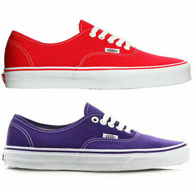 AU49.95 • Buy Vans Authentic Womens Shoes Red Purple. Womens Us Sizes