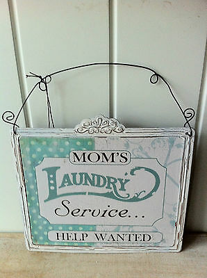 Vintage Retro Sign 'mom's Laundry Service Help Wanted' Fun Mothers Day Gift • 5.99£