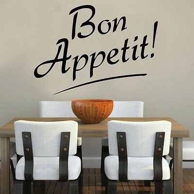 Bon Appetit! Quote Decal Vinyl Wall Sticker Kitchen Sayings Popular • 9.99£