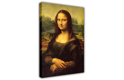 Leonardo Da Vinci Mona Lisa Large Canvas Painting Re-print / Portrait / Picture • 9.99£